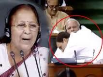No Confidence Motion:राहुल, हे वागणं बरं नव्हं; सभापती सुमित्रा महाजन यांनी दिली समज