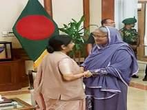 परराष्ट्र मंत्री सुषमा स्वराज यांचा बांगलादेश दौरा