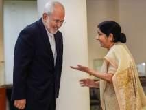 इराणवर कोणतीही बंधने नाहीत- सुषमा स्वराज; इराणचे परराष्ट्र मंत्री भारताच्या दौऱ्यावर