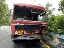 ठाण्यातील सॅटिस पुलावर दोन एसटी बसची टक्कर, २८ जण जखमी