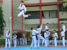 कोरियन खेळाडुंची चित्तथरारक तायक्वांदो प्रात्यक्षिके; पुण्यातील मुलींनी घेतले स्व-रक्षणाचे धडे