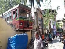 टीएमटी बसचा झाला किरकोळअपघात; ३ वाहनांचे नुकसान