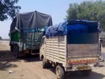 धान्याच्या ट्रकचा उलट्या दिशेने प्रवास !