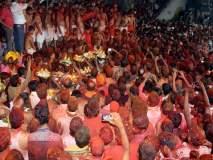 तुळजाभवानी देवीचे सीमोल्लंघन उत्साहात; पाच दिवसीय श्रमनिद्रेस सुरुवात