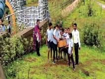 दिव्यांग विद्यार्थी राखतात पवित्र शिरपामाळ पर्यटनस्थळाची स्वच्छता