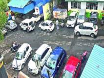 अनधिकृत वाहन पार्किंगचा वाहतूक पोलिसांना ताप
