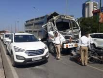 सहा गाड्यांच्या विचित्र अपघातात 6 जण जखमी