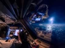पायलटच्या कॅबिनमधून आकाश कसं दिसतं? बघा खास फोटो