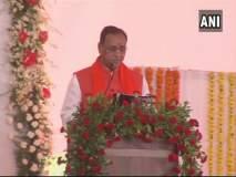 गुजरात सरकारचा शपथविधी सोहळा : विजय रुपाणी यांनी दुस-यांदा घेतली गुजरातच्या मुख्यमंत्रिपदाची शपथ