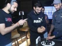 टीम इंडियाचं विराट कोहलीच्या हॉटेलमध्ये सेलिब्रेशन