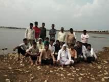 सिंचनासाठी पाण्याच्या मागणीसाठी शेतकरी पुत्रांचे सोनल प्रकल्पामध्ये आंदोलन