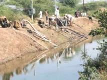चपळगाव तलावातून अवैध पाणी उपसा सुरू, ग्रामस्थांचा उपोषणाचा इशारा: फेब्रुवारीत पाणीटंचाई भेडसावण्याची भीती