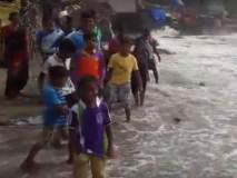 रत्नागिरी जिल्ह्यातील दापोलीत समुद्राचे पाणी शिरले घरांमध्ये