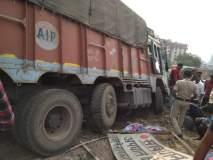 ट्रकची दुचाकींना धडक ; तरुण गंभीर जखमी