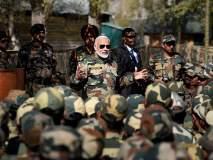 काश्मीरच्या गुरेझ सेक्टरमध्ये पंतप्रधानांनी जवानांसोबत साज-या केलेल्या दिवाळीचे क्षण