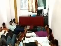 अकोला : पशुधन विकास मंडळाच्या कार्यालयात 'शिवसंग्राम'चे 'झोपा' आंदोलन