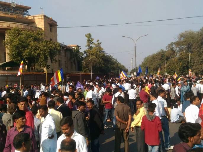 Maharashtra shut down call In Vidarbha is moves silently | महाराष्ट्र बंदला विदर्भात 100 टक्के प्रतिसाद; बाजारपेठांसह सर्वत्र सामसूम