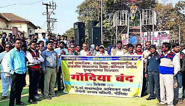 The ban on the formation of Bhima Koregaon is blocked | भीमा कोरेगाव घटनेच्या निषेधार्थ कडकडीत बंद