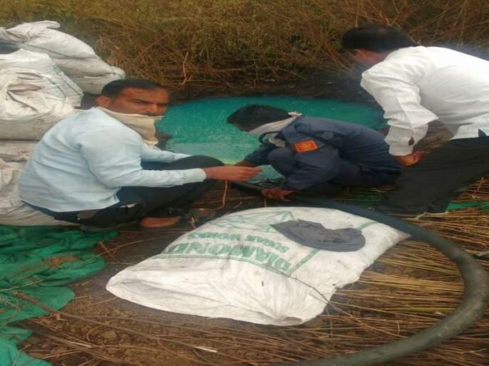Niphad is trying to break Bharat Petroleum's diesel channel | निफाडला भारत पेट्रोलियमची डिझेल वाहिनी फोडण्याचा प्रयत्न