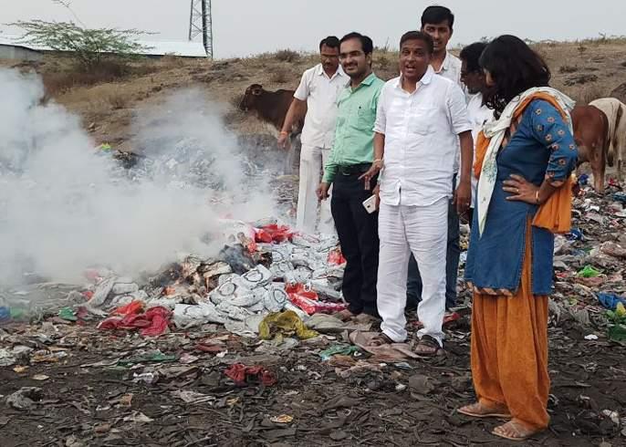 Gutkha destroyed in Beed | बीडमध्ये ९१ हजारांचा गुटखा नष्ट
