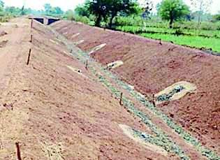The 'canal construction survey'   'त्या' नहर बांधकामाची पाहणी