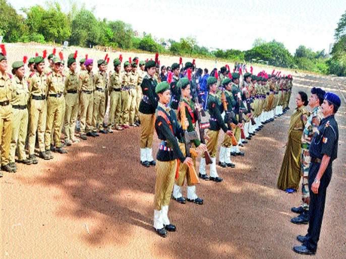 KTHH's NCC Team Top Guards Sports Competition: Girls Performance in Maharashtra Battalion | केटीएचएमचे एनसीसी पथक अव्वल गार्ड्स ड्रील स्पर्धा : महाराष्टÑ बटालियनमधील मुलींची कामगिरी