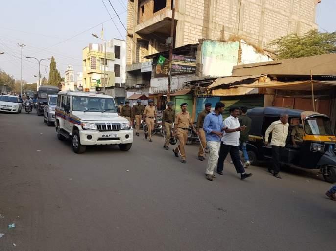 Bhima - Stress in Koregaon; Increase in police constable in the city | भीमा - कोरेगावातील तणावाचे औरंगाबादेत पडसाद; शहरात पोलीस बंदोबस्तात वाढ