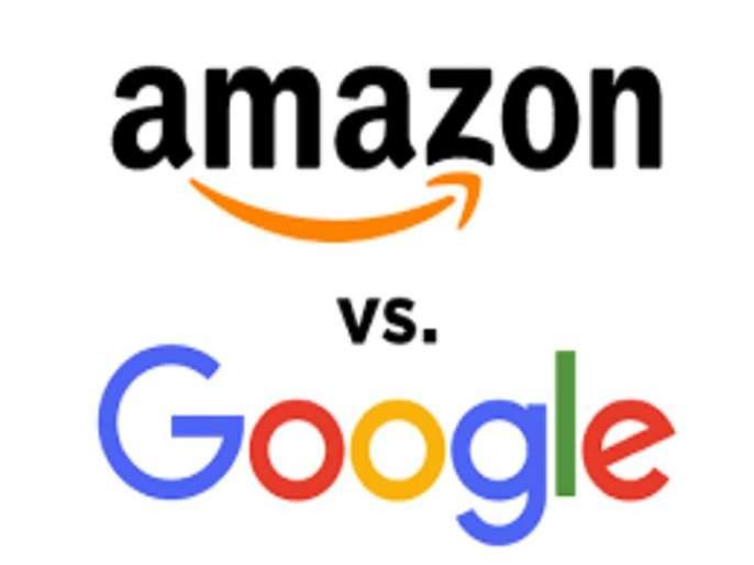 competition in Google and Amazon   तीव्र स्पर्धेमुळे गुगल व अमेझॉनमध्ये जुंपली