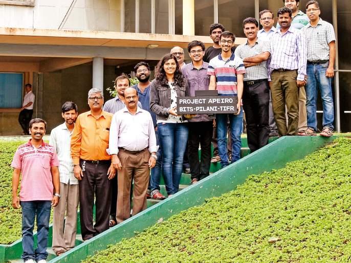 Apuro .... A microwave satellite of Pilani students of Goa's bustling balloon | अपिरो....फुग्यातून अवकाशात झेपावणारा गोव्याच्या बिट्स पिलानीच्या विद्यार्थ्यांचा एक मायक्रो उपग्रह