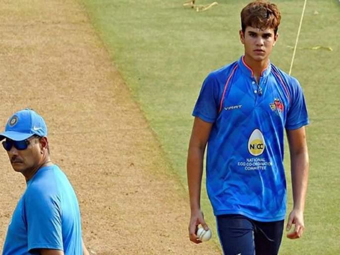 Arjun Tendulkar's all-round performance in Australia | ऑस्ट्रेलियात अर्जुन तेंडुलकरचा ऑलराऊंडर परफॉर्मन्स, 27 चेंडूत ठोकल्या 48 धावा; चार विकेटही मिळवल्या