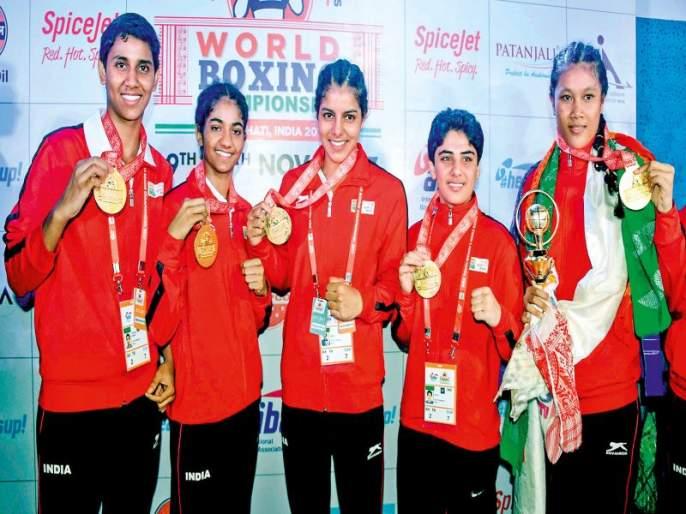 Boxer girls golden punches | खेड्यापाड्यातल्या बॉक्सर मुलींचा गोल्डन पंच