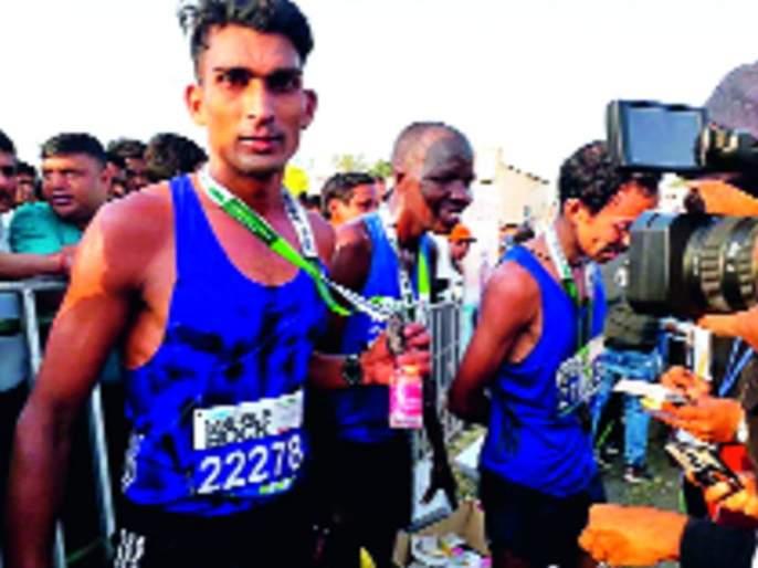 vikram second in the Jabalpur International Marathon | चिमूरचा विक्रम जबलपूर आंतरराष्ट्रीय मॅराथॉनमध्ये दुसरा