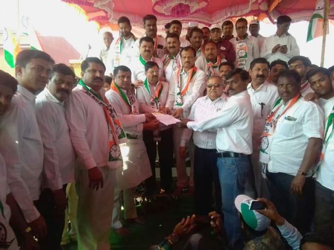 Chalisgaon MIDC, NCP's Stalk Front | चाळीसगाव एमआयडीसीवर राष्ट्रवादीचा धडक मोर्चा