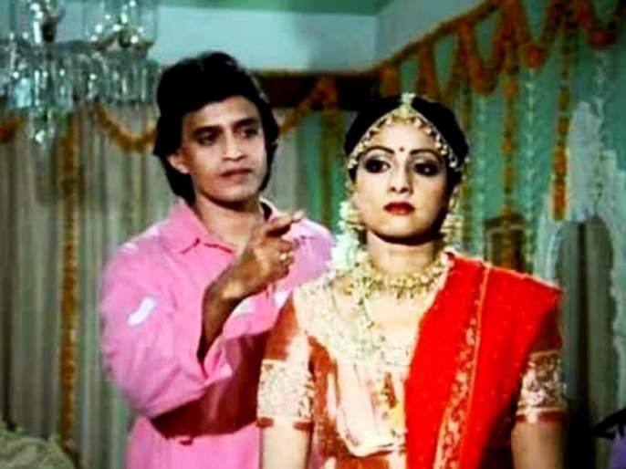 Mithun Chakraborty had raised Ragini from the hands of Sridevi!   मिथुन चक्रवर्तीने वैतागून श्रीदेवीच्या हातून बांधून घेतली होती राखी !!