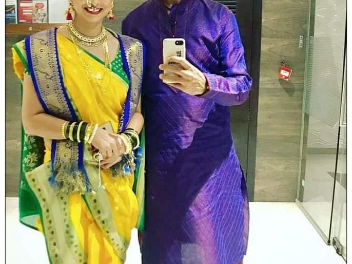 After the big fight, Revati and Subodh stuck in a wedding, both of them were married   मोठ्या संघर्षानंतर रेवती आणि सुबोध अडकले लग्नबंधनात,लग्नात दोघांचा असा होता अंदाज