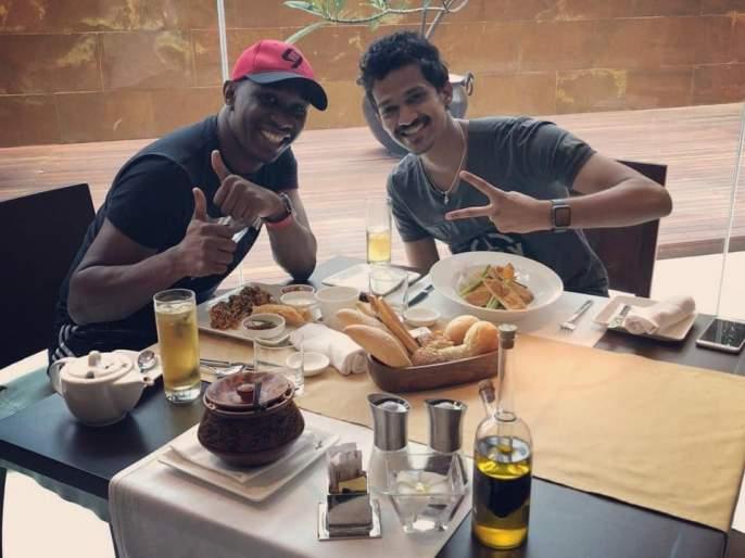 West Indies's Dwayne Bravo wants a mix of Nashik, watch video if you can not believe it! | वेस्ट इंडिजच्या ड्वेन ब्राव्होला आवडते नाशिकची मिसळ, विश्वास बसत नसेल तर व्हिडीओ पाहा!