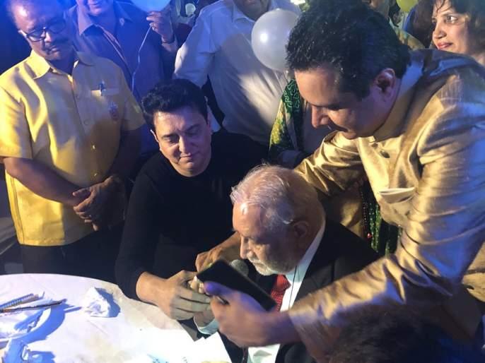 Sajid Nadiadwala celebrates the birthday of father of Divya Bharti! Look, photos !! |  साजिद नाडियाडवालाने साजरा केला दिव्या भारतीच्या वडिलांचा वाढदिवस! पाहा, फोटो!!