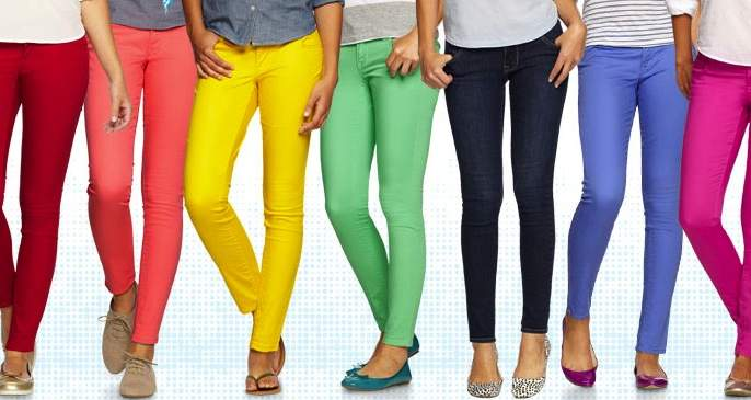 Color jeans dei attractive 'dressing style'! | कलर जीन्स देई आकर्षक 'ड्रेसिंग स्टाईल'!