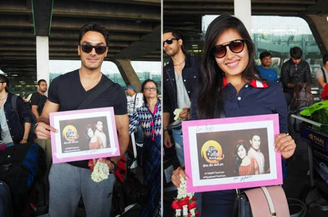 Welcome to 'Sun Suri, I Shanti Piyaaji' in Bangkok!   बँकॉकमध्ये 'तू सूरज, मैं साँझ पियाजी'च्या कलाकारांचे जल्लोषात झाले स्वागत!