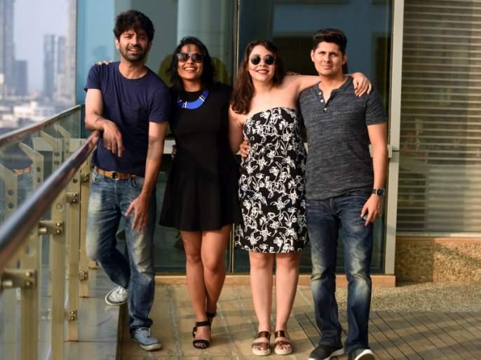 'You are my Sunday' cinema team visit to Lokmat's office | 'तू हैं मेरा संडे' सिनेमाच्या टीमची लोकमतच्या ऑफिसला भेट