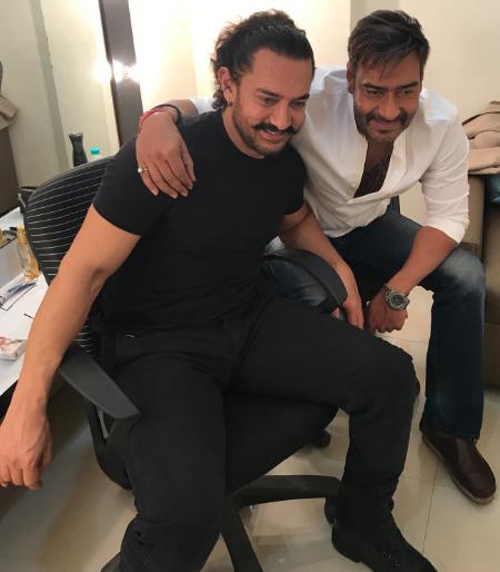 Proof of Ajay Devgn and Aamir Khan's friend | अजय देवगण आणि आमिर खानच्या मैत्रिचा हा पुरावा