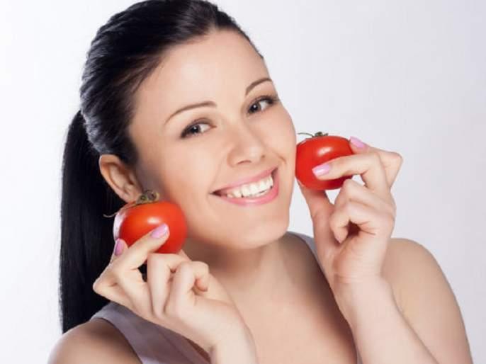 Beauty: Tomatoes beneficial to remove facial crumbs! | Beauty : चेहऱ्यावरील सुरकुत्या दूर करण्यासाठी टोमॅटो फायदेशीर !