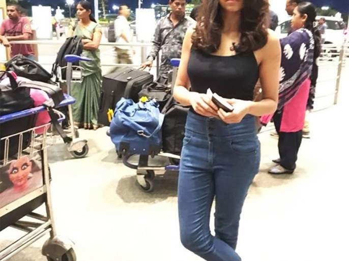 Sai Tamhankar went to London Indian Film Festival! | सई ताम्हणकर निघाली लंडन भारतीय फिल्म फेस्टिव्हलला !