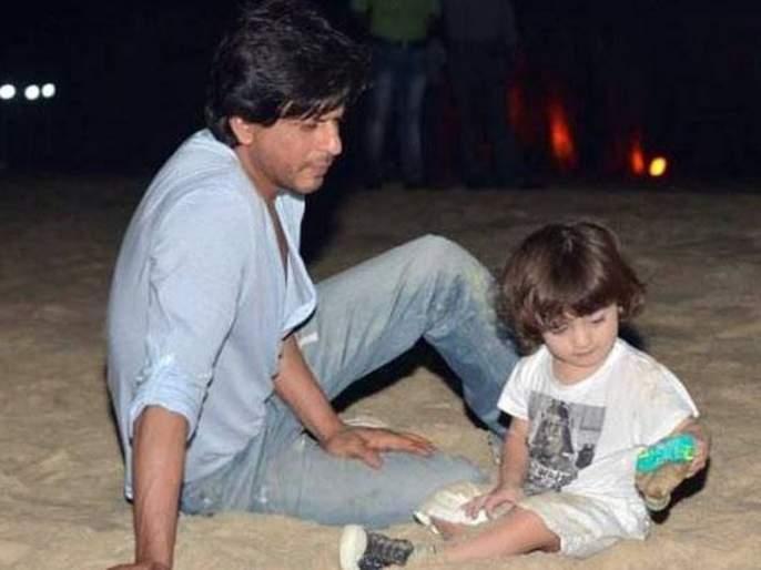 Shahrukh Khan goes to Night Walk with son Abar ... | शाहरूख खान मुलगा अबरामसोबत नाईट वॉकला जातो तेंव्हा...