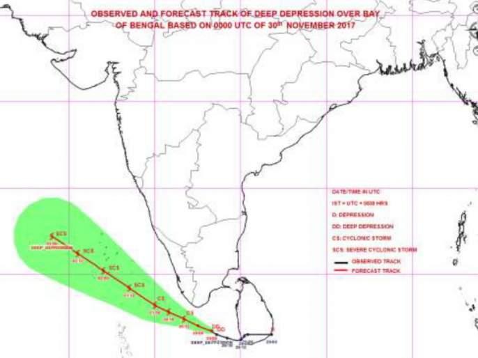 The low-pressure stripe converts into an okhi cyclone; Lakshadweep risk | कमी दाबाच्या पट्ट्याचे रुपांतर ओक्खी चक्रीवादळात; लक्ष्यद्वीप समुहाला धोका