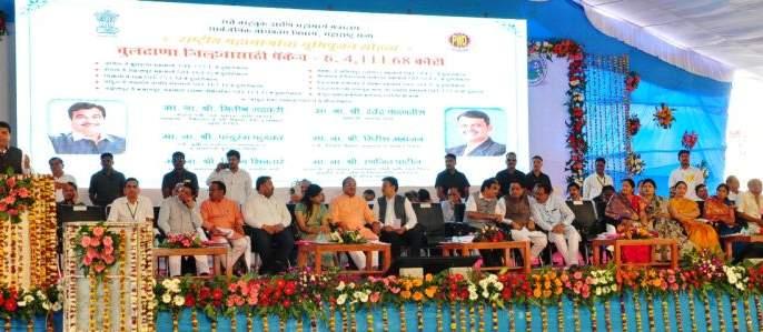 10 thousand crore development works in Buldhana district | बुलडाणा जिल्ह्यात १0 हजार कोटींच्या विकास कामांचा शुभारंभ
