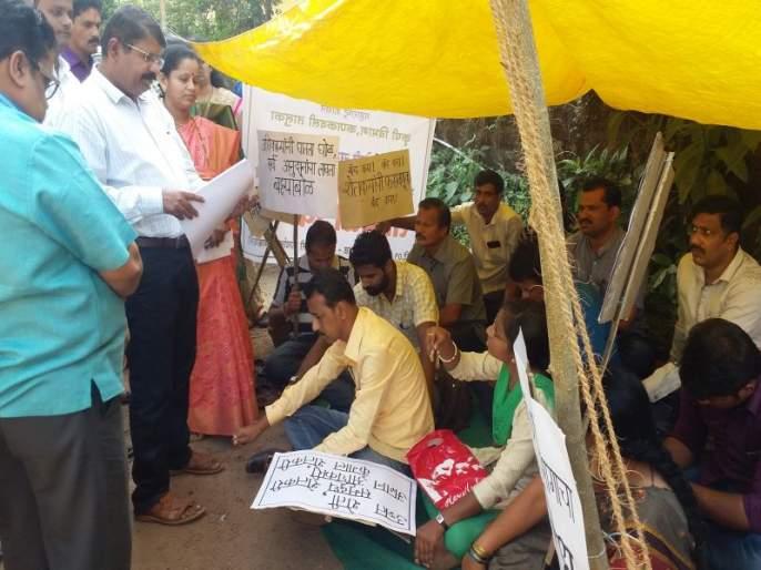 Chain fasting of farmers against Kankavali Agriculture Department | कणकवली कृषी विभागाविरोधात शेतकऱ्यांचे साखळी उपोषण