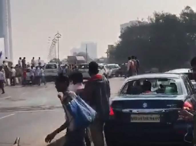 VIDEO - | VIDEO - विक्रोळी जोगेश्वरी लिंक रोड परिसरात वाहनांची तोडफोड