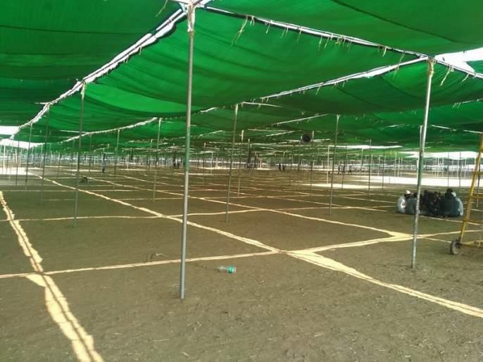 preparation going on for state level ijatema at aurangabad | औरंगाबादमध्ये राज्यस्तरीय इज्तेमाची तयारी जोरात; ८८ लाख वर्ग फूट जमिनीवर उभारणार भव्य पेंडॉल