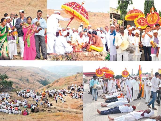 Bodies of devotees visit Panthapath for Somvati at Kirtan Khandoba | सोमवतीनिमित्त पिंपळगाव रोठा येथे कोरठण खंडोबाच्या दर्शनासाठी भाविकांची मांदियाळी